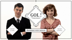 Oleg et Katya, les présentateurs du webdocumentaire Gol!