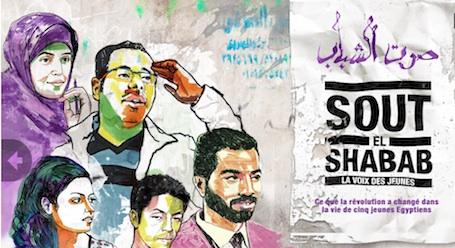 L'interface de Sout el Shabab a été entièrement dessinée par un des protagoniste du documentaire.