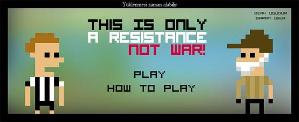 Un des 12 jeux de la Gezi Jam