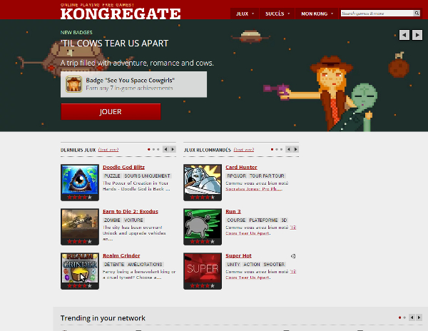 Yay! We made it to Kong's homepage!