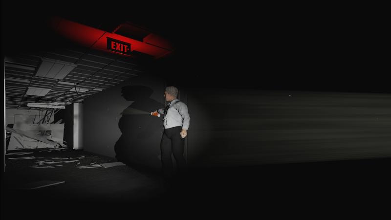 Dans 8:46, la phase de recherche d'une sortie dans la fumée est particulièrement oppressante en réalité virtuelle