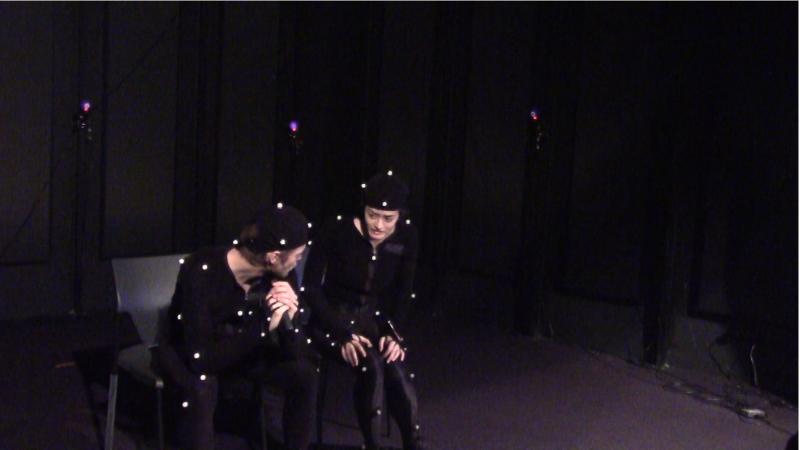 Kevin Roze et Alice Kudlak durant la motion capture de [08:46]