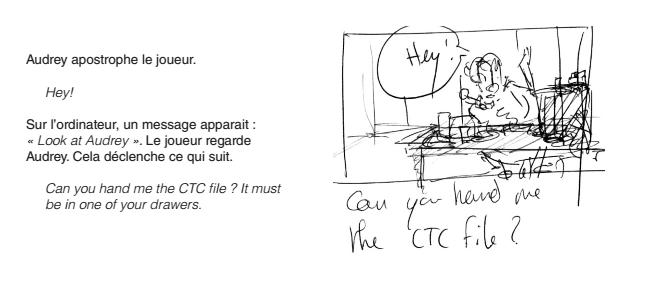 Le script et le storyboard de [8:46]