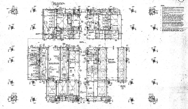 Plan de la structure centrale du 101ème étage de la tour Nord, où se déroule [08:46]