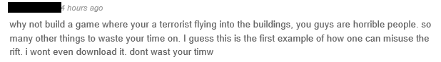 Certains commentaires sur Occulus Share sont... plutôt hostiles au projet.